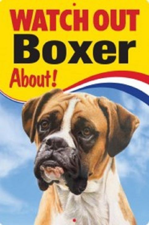 BOXER DOG 3D  DOG SIGN